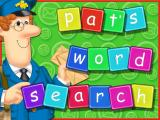 Postman Pat Activity Centre Windows Word Search: This is the game's load screen. all games have a colourful introduction screen similar to this