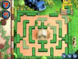 Bob the Builder: Bob's Castle Adventure Windows Make A Maze: The dump truck delivers pieces in the top right. The player selects the piece by clicking on it and clicks again to position it using the 'shadow shapes' as a guide