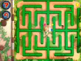 Bob the Builder: Bob's Castle Adventure Windows Run A Race: The player is controlling the character in the upper right section via the keyboard. The object is to reach the centre of the maze before the AI characters