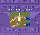 "Super Final Match Tennis SNES ""You win the victory""."