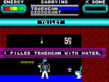 Skyscraper of Doom ZX Spectrum Filling trashcan with water