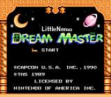 Little Nemo: The Dream Master NES Title screen