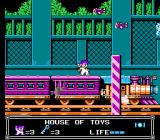 Little Nemo: The Dream Master NES Riding a train