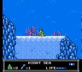 Little Nemo: The Dream Master NES Riding a crap underwater