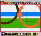 Mario Paint SNES Lots of different shapes can be used
