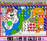 Mario Paint SNES There are several different pre-made pictures you can colour yourself