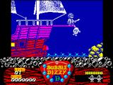 Bubble Dizzy ZX Spectrum Dizzy forced to walk the plank by evil Captain Blackheart