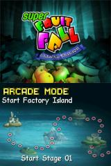 Super Fruitfall Nintendo DS World map