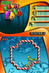 Super Fruitfall Nintendo DS Level 1 (arcade mode)