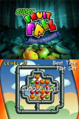Super Fruitfall Nintendo DS Time trial mode lets you pick from the levels you have previously unlocked.