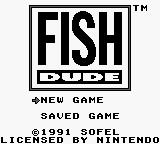 Title screen (Fish Dude).