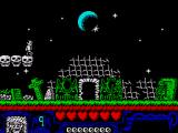 The Addams Family ZX Spectrum The graveyard