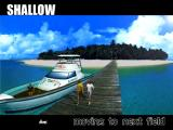 Sega Marine Fishing Windows Arcade Mode<br>The player has selected the Shallow area to fish in, now the game prepares to ask some more game configuration questions