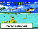 Sega Marine Fishing Windows Arcade Mode<br>Each type of fish scores differently so it's important to select the correct lure