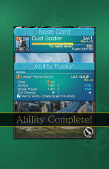 Mobius Final Fantasy Android The card (ability) fusion is complete.