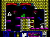 Blinkys Scary School ZX Spectrum Hopping up on some platforms...