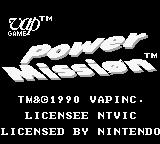 Power Mission Game Boy Title screen (US).