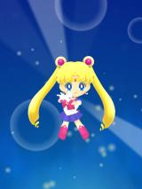 Sailor Moon Drops iPad She does this before every level