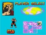 Street Fighter Alpha: Warriors' Dreams Game Boy Color Player selection, good old Ken!