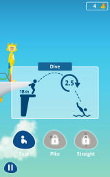 Rio 2016: Diving Champions Android Choose a stance and perform the jump shown.