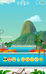 Rio 2016: Diving Champions Android Emoji's are used to rate your jumps.