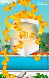 Rio 2016: Diving Champions Android Unwrapping a present after completing a challenge.