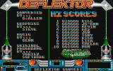 Deflektor Amiga Title screen, credits, and scores
