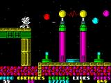 Exolon ZX Spectrum These two huge electric pillars indicates end of level