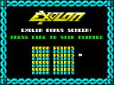 Exolon ZX Spectrum Bonus screen after level is completed
