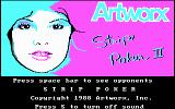 Strip Poker II DOS Title screen (CGA)