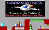 Commander Keen: Invasion of the Vorticons DOS The title screen