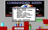 Commander Keen: Invasion of the Vorticons DOS The main menu