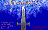 Panoplia: The Full Armor of God DOS Title Screen.