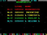 Moon Cresta ZX Spectrum High score