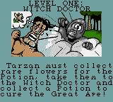 Tarzan: Lord of the Jungle Game Gear Level introduction.