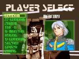 Gundam: The Battle Master PlayStation Player Select. Gundam / Mercury.