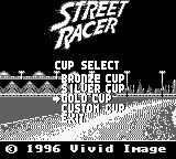 Street Racer Game Boy Cup select. Gold Cup finally.