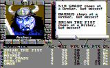 The Bard's Tale II: The Destiny Knight DOS Our first fight, and it's not going terribly well (CGA Composite)