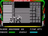 Bad Dudes ZX Spectrum The fire boss you come up against can breath fire