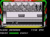 Bad Dudes ZX Spectrum The second level sees you on top of moving lorries