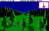 Mixed-Up Mother Goose Amiga In the middle of the woods at night... Thankfully this isn't King's Quest IV!