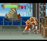 Final Fight 2 SNES At the harbor, fighting the first boss