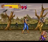 Final Fight 2 SNES Holland - One of the bad guys is recovering while the other one waits to join the action