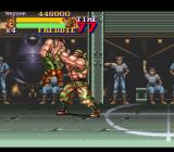 Final Fight 2 SNES Haggar grabbed by a boss