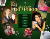 All Star Strip Poker Windows Main menu