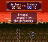 Gemfire SNES Archers attacking head on - you can also attack from the rear or the flanks
