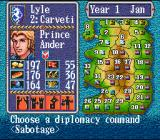 Gemfire SNES Choosing diplomacy commands