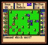 Gemfire NES Battles can be won by either defeating all enemies or capturing the enemy's flag (in this picture the flags are covered by soldiers)