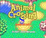 Animal Crossing GameCube Title screen.