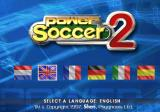 adidas Power Soccer 2 PlayStation Language selection.